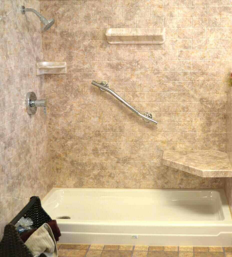 Acrylic shower walls vs tile shower walls Best tile for shower walls