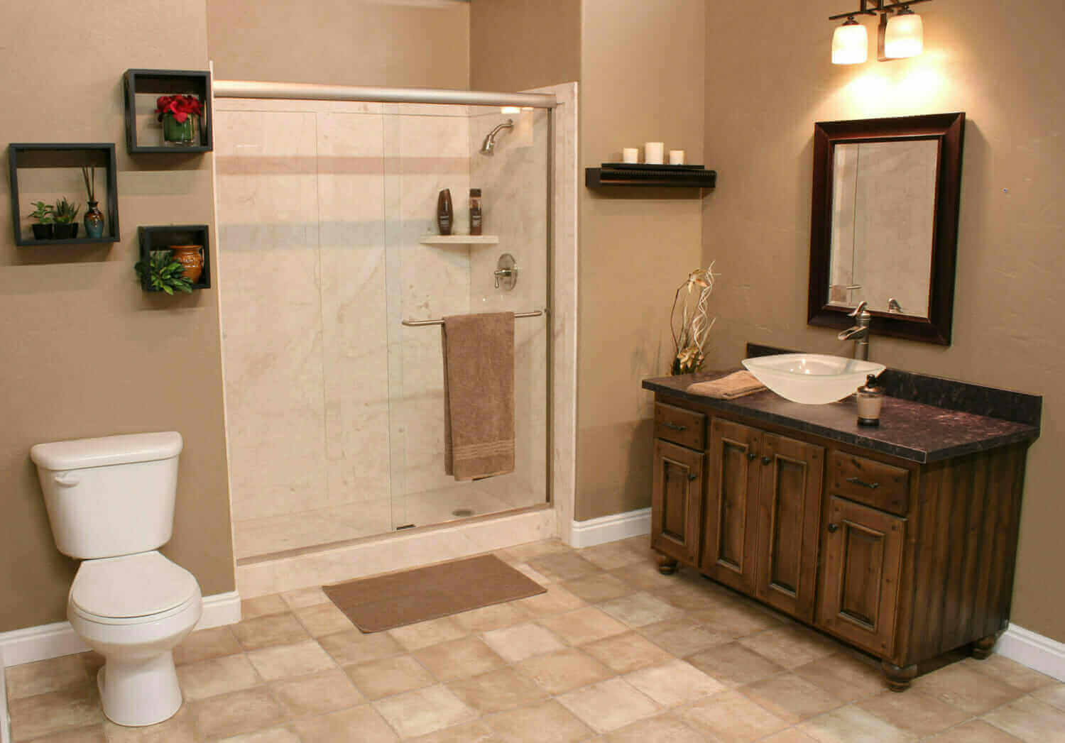 South atlanta bathroom remodelers five star bath for Bath remodel one day